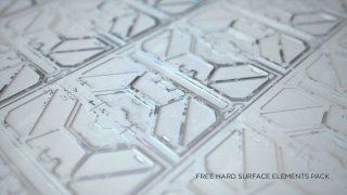 Free Cinema 4D Model Pack: Hard Surface Kitbash Elements