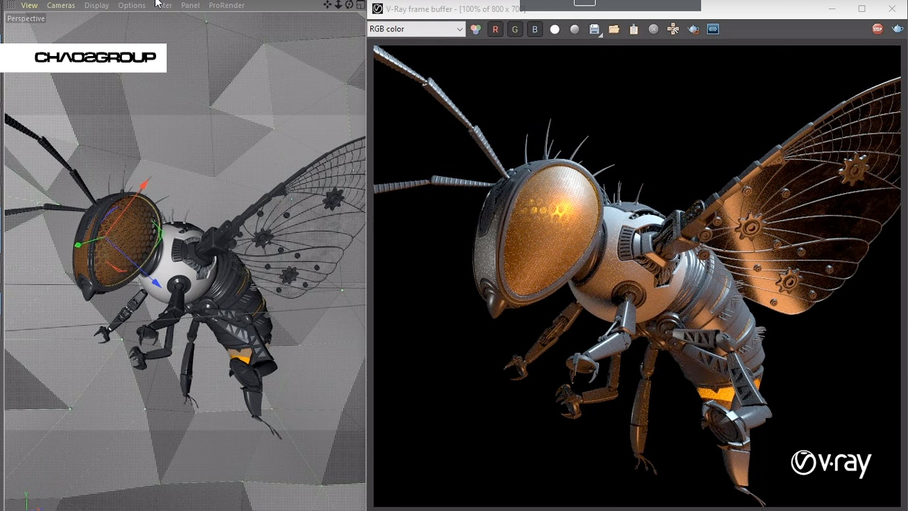 chaos group v-ray for cinema 4d sneak peek