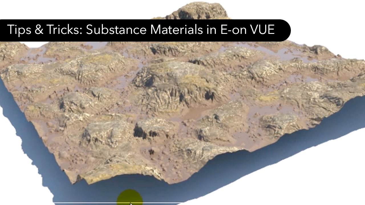 Substance Materials in E-on Vue