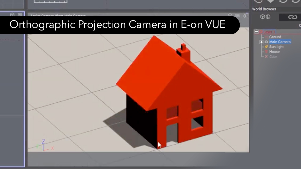 e-on software Summer 2019 Release: Orthographic Projection Camera