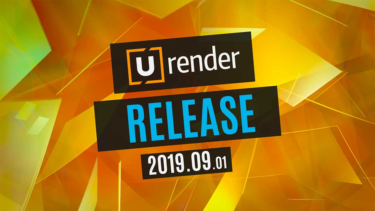U-RENDER 2019.09.01 AVAILABLE