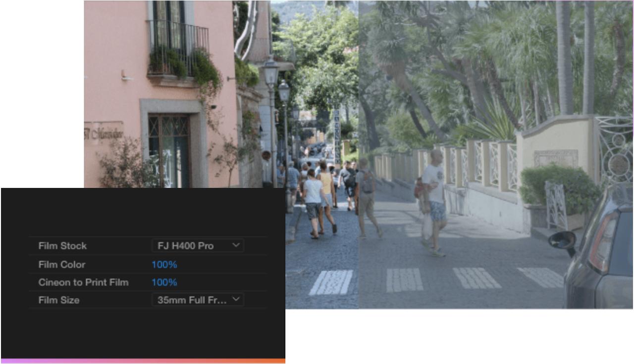 filmconvert nitrate emulation