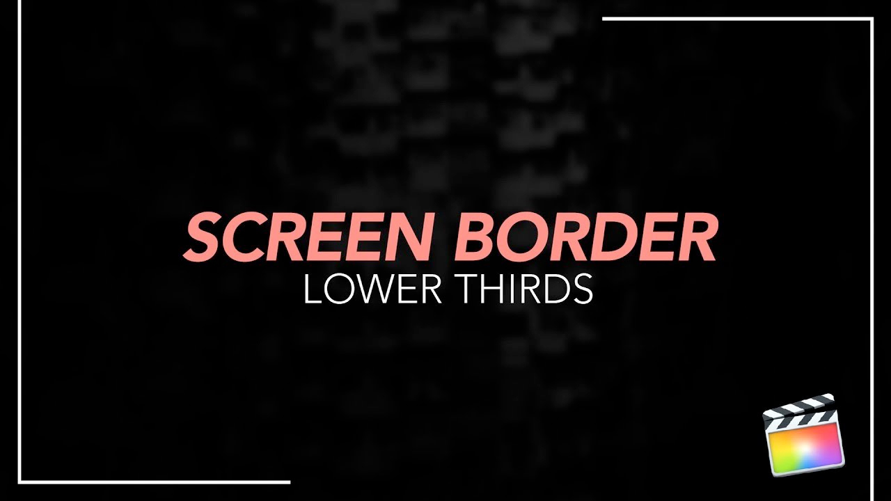 premiumvfx screen border lower thirds