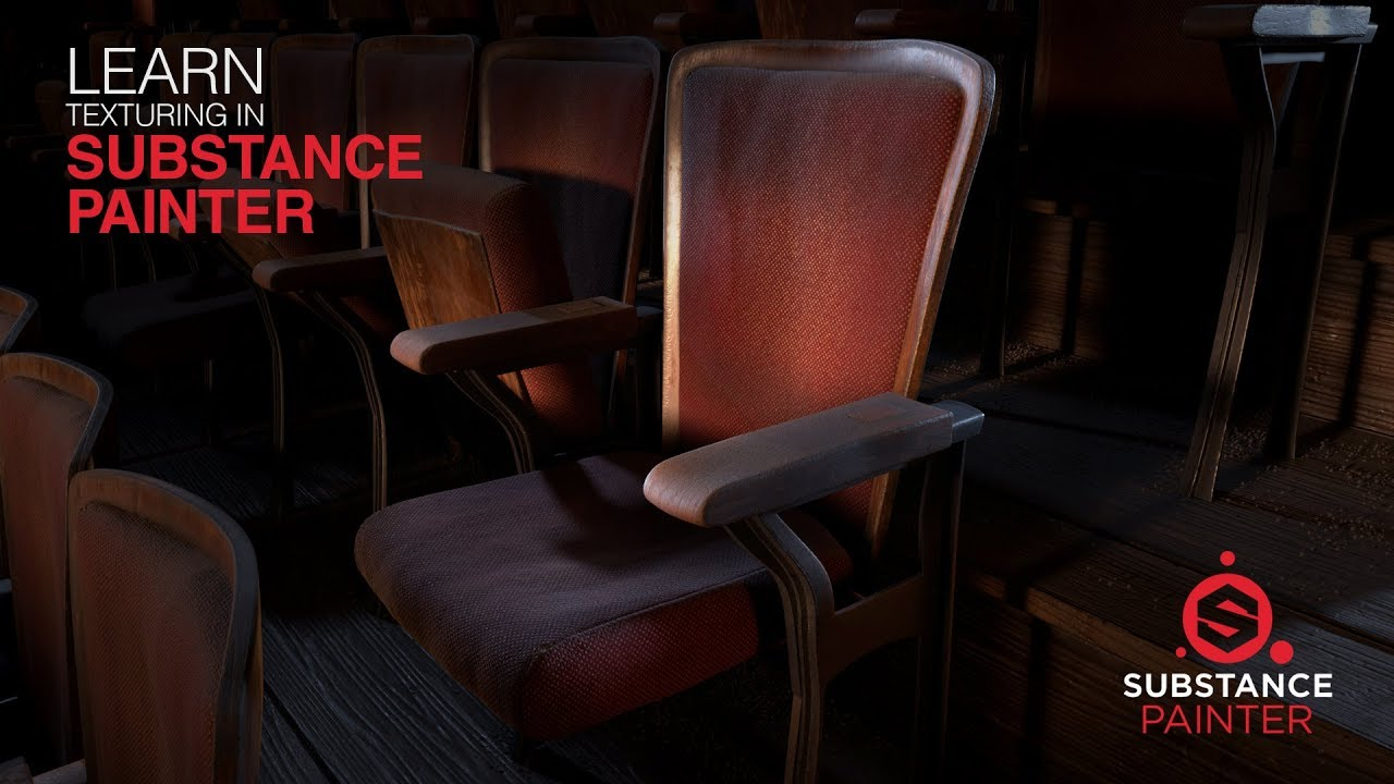 Substance Painter Texturing Vintage Theater Chair by Brent LeBlanc