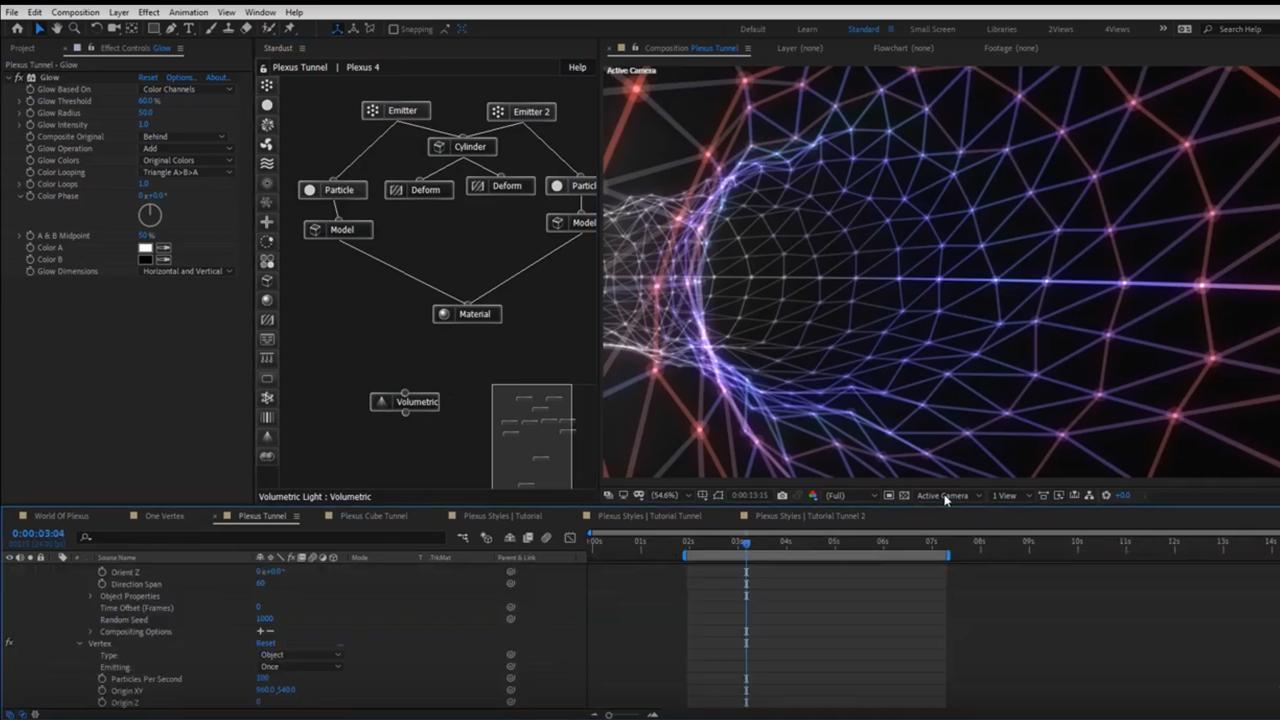 stardust 3d plexus style effets tutorial