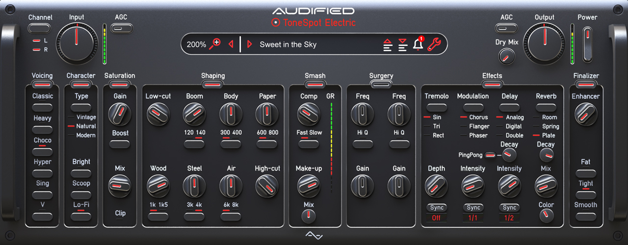 audified tonespot electric pro hero