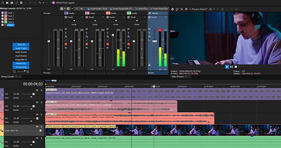 vegas edit audio