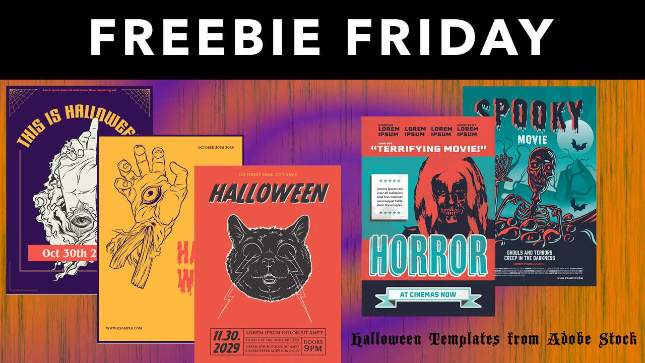 adobe stock Halloween Templates