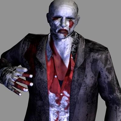 3d horor models zombie