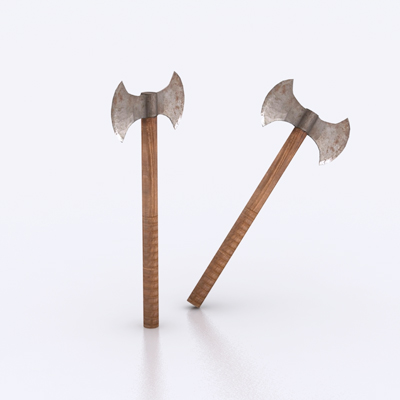 3d horror models axes