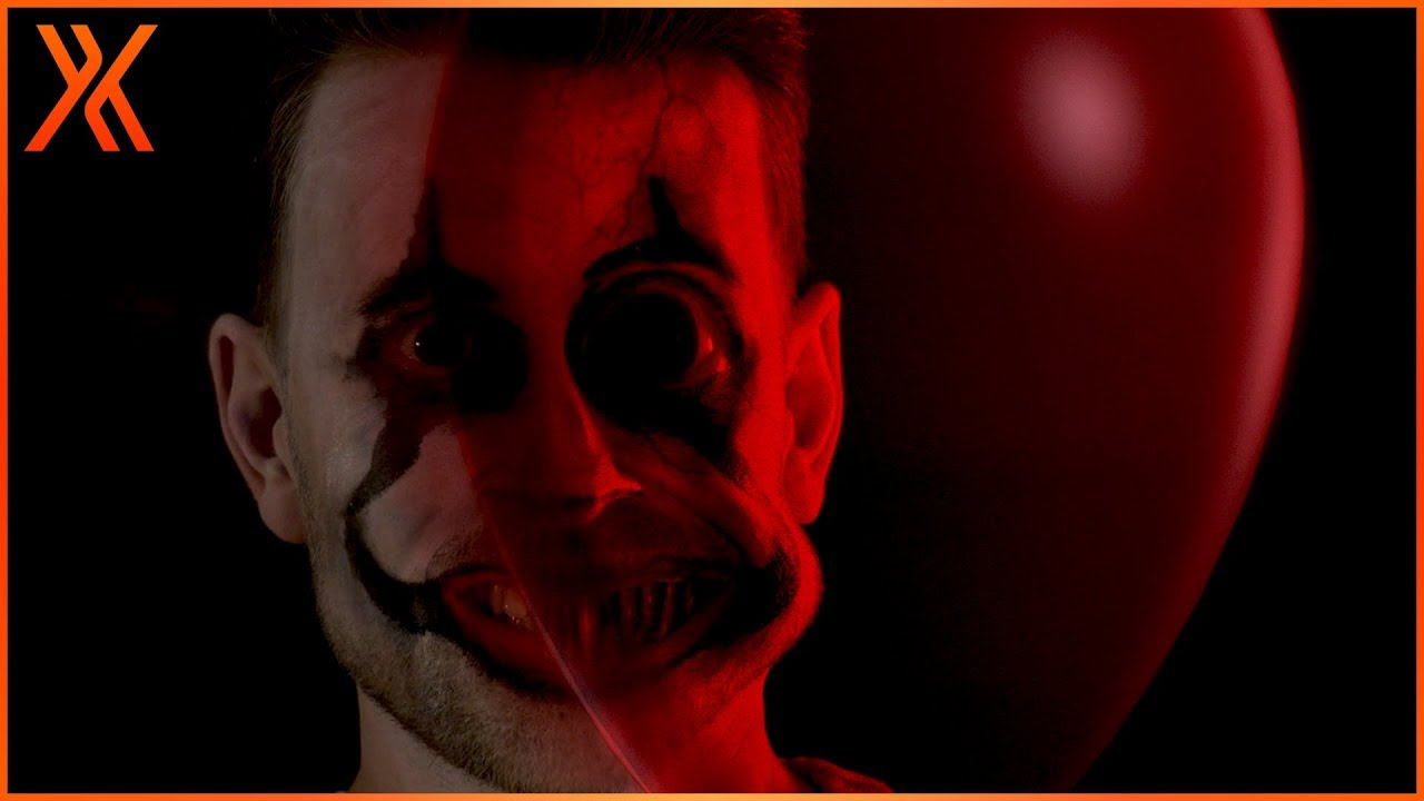 How to create a Pennywise demon face + FREE 3D balloon model