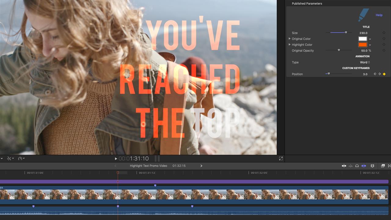 cineflare highlight text custom