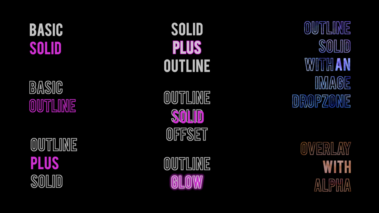 cineflare highlight text categories