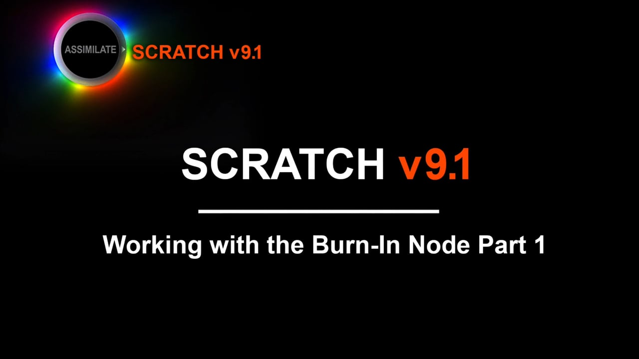 Assimilate Scratch burn-in node