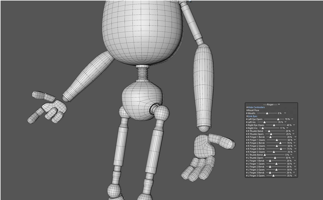 helloluxx character rig hand