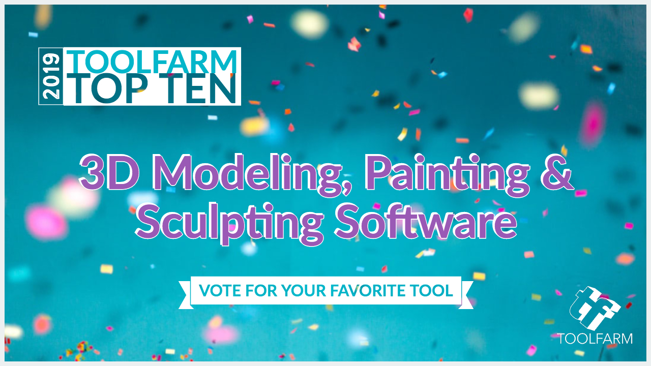 Toolfarm top 10 2019 3D Modeling, Painting & Sculpting Software