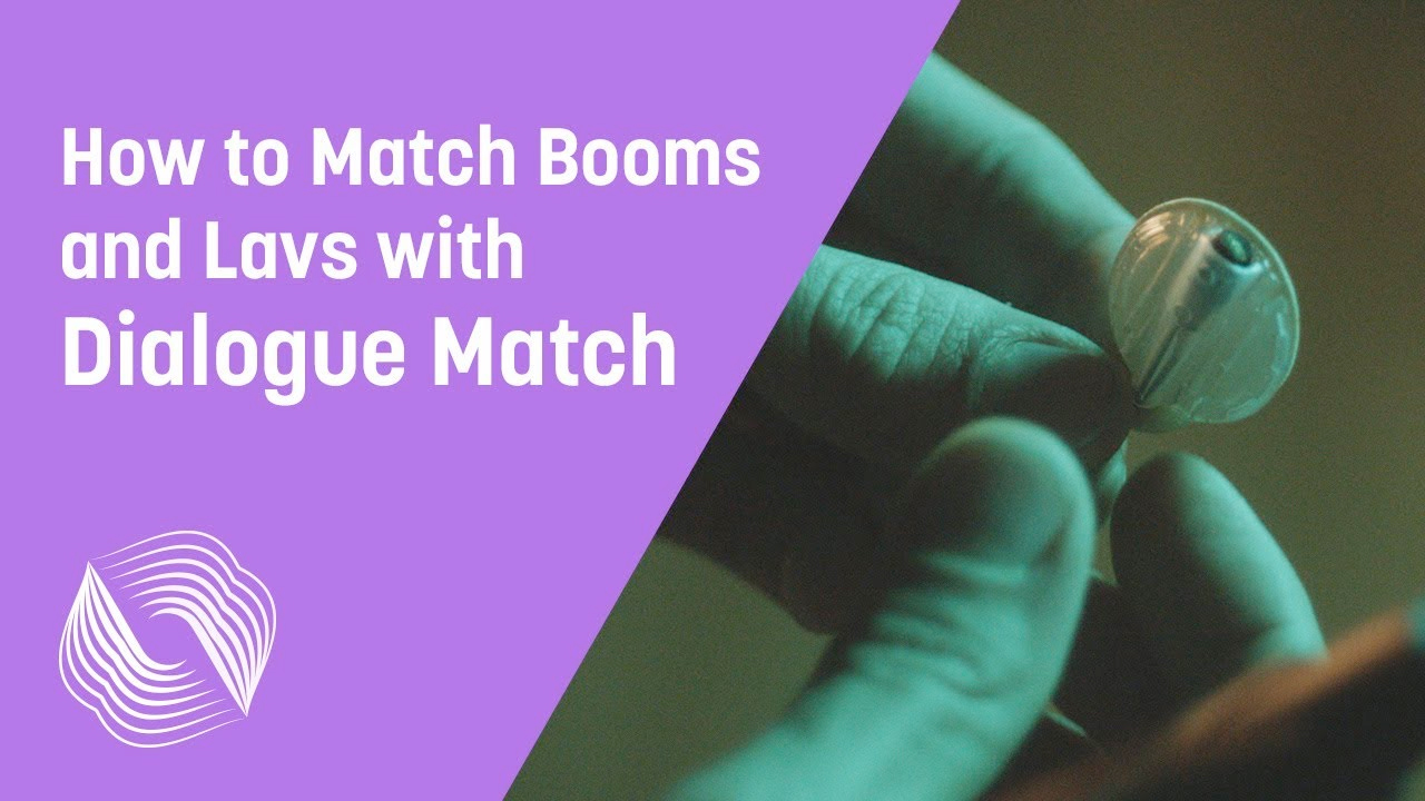match boom and lavalier audio with dialogue match
