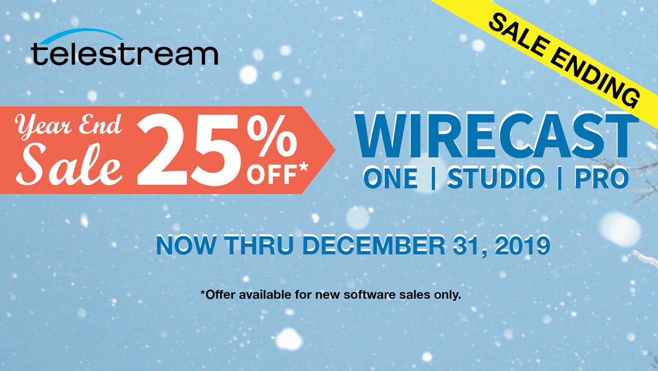 telestream wirecast end of year sale ending