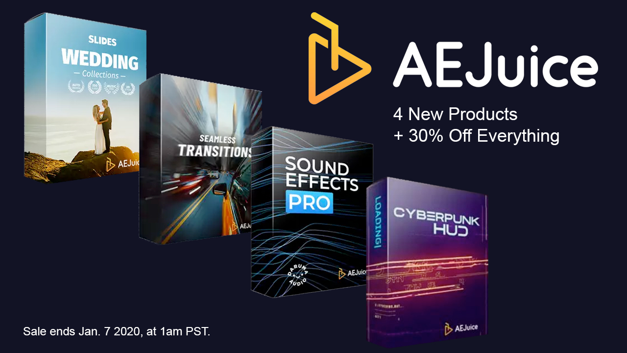 aejuice 4 new products + sale