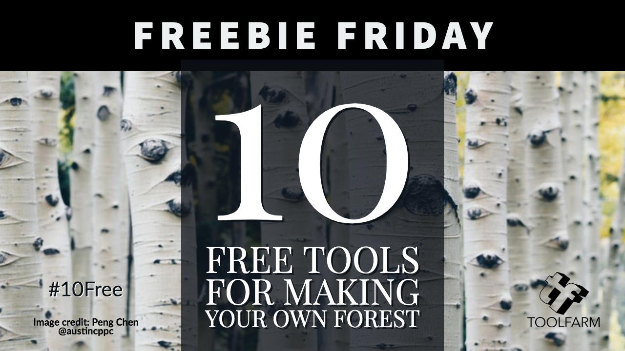 10 Free Tools for making your own forest. Image credit : Peng Chen @austincppc Avatar of user Peng Chen Peng Chen @austincppc