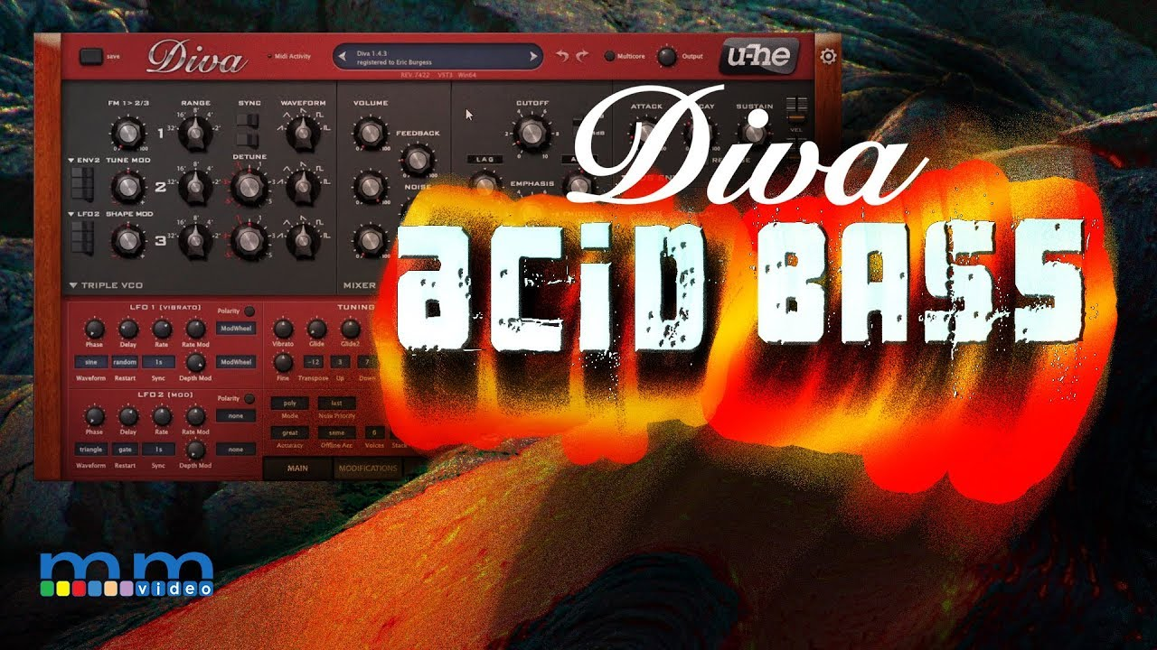 U-he DIVA Acid Bass
