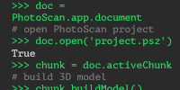 Agisoft metashape Python scripts: customize processing workflow