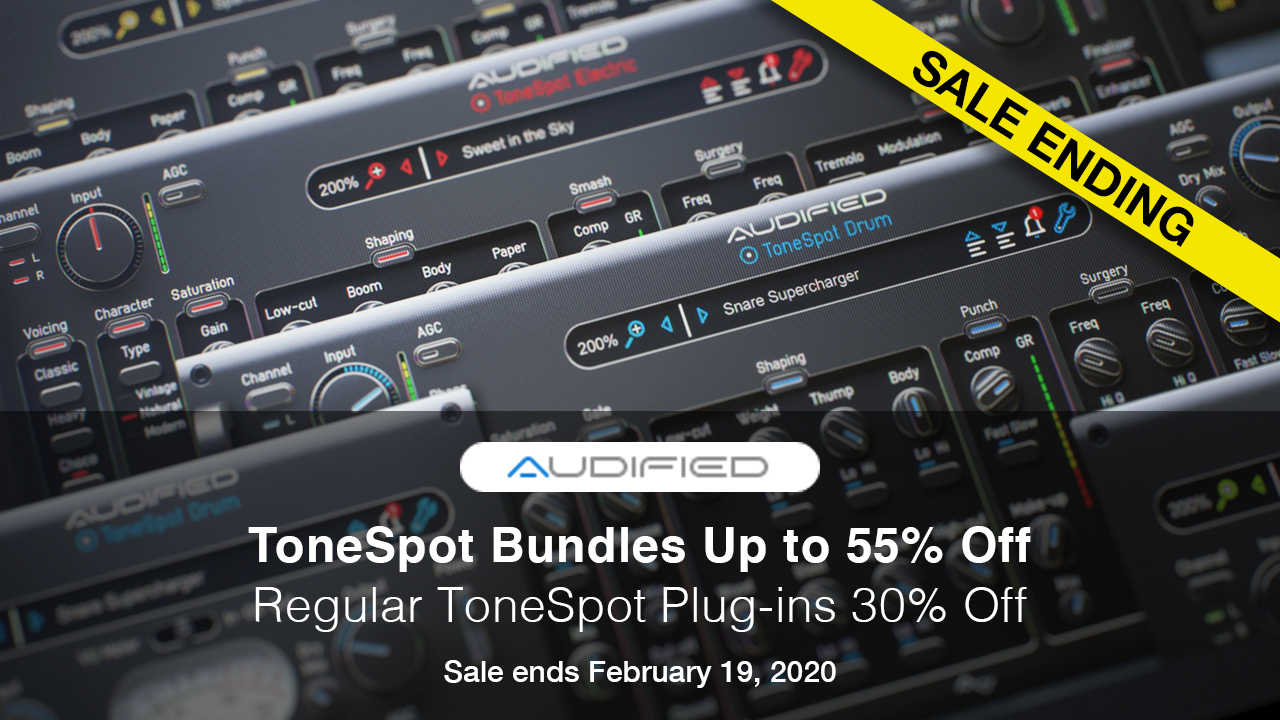Audified tonespot sale ending