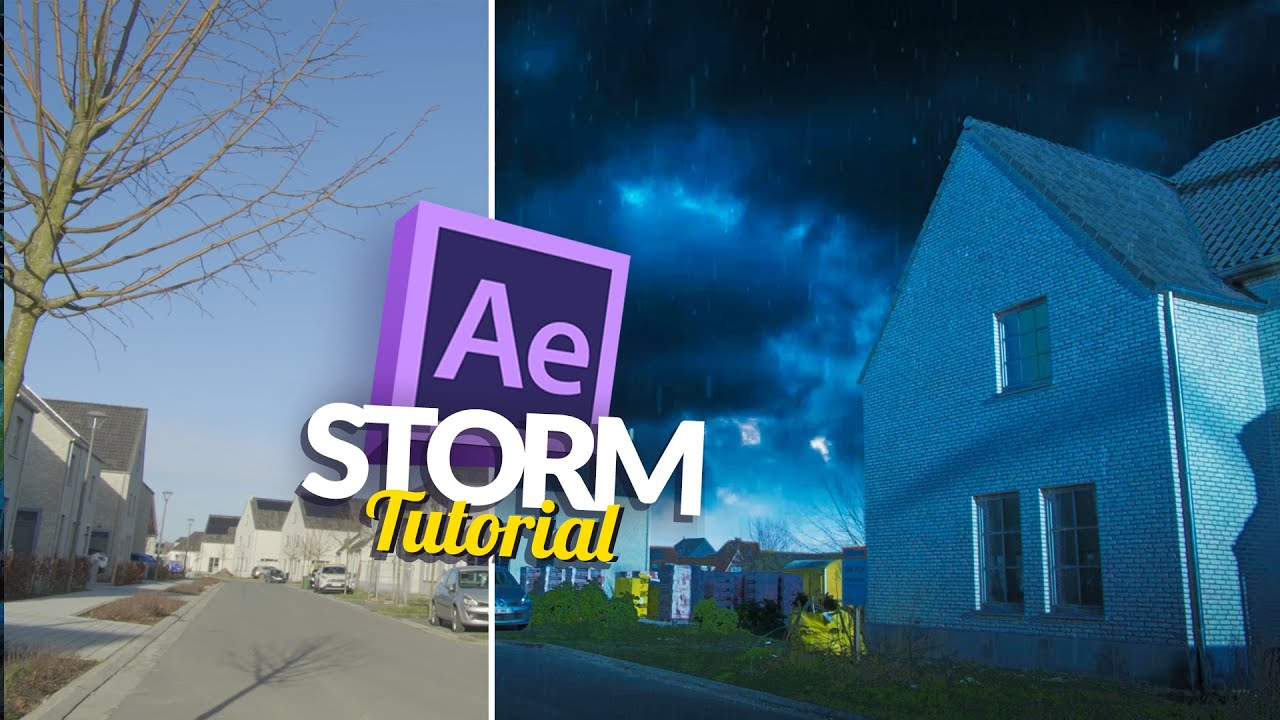 Realistic weather tutorial rain and snow ignace aleya