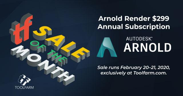 arnold render sale popup
