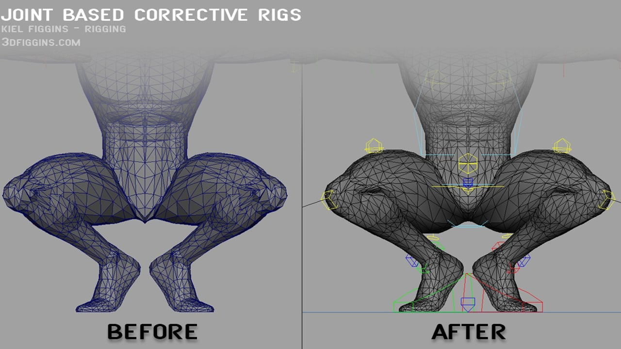 Corrective Joint Based Rigs by Kiel Figgins