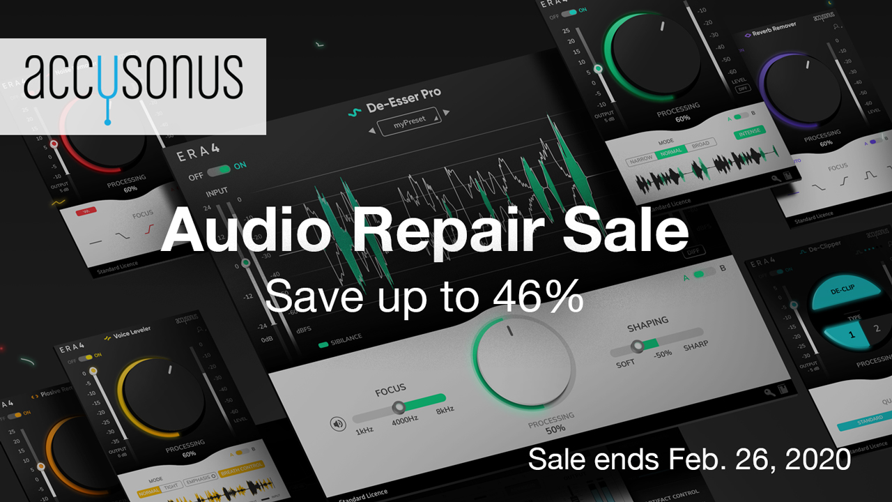 accusonus audio repair bundles sale