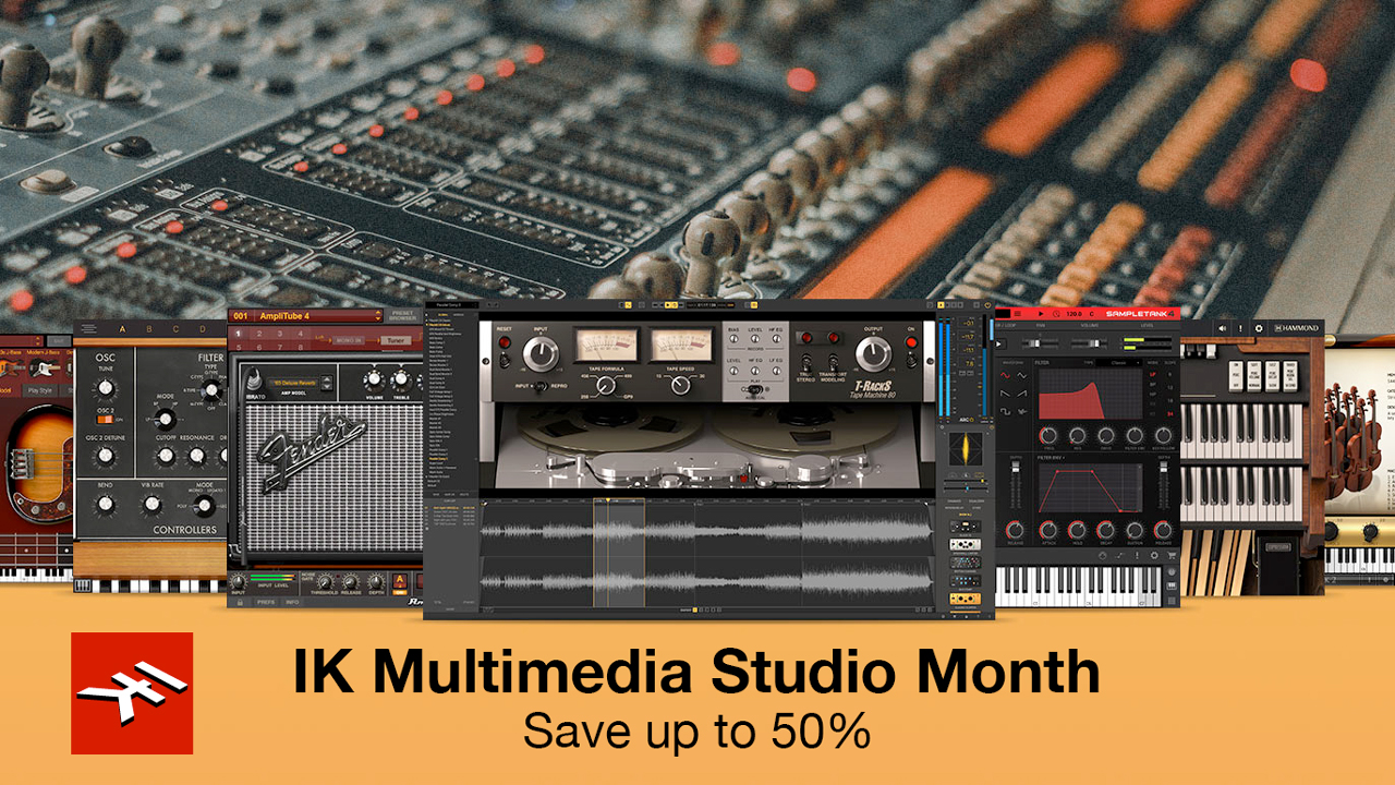 ik multimedia studio month sale