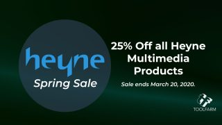 Heyne Multimedia Spring Sale Save 25%