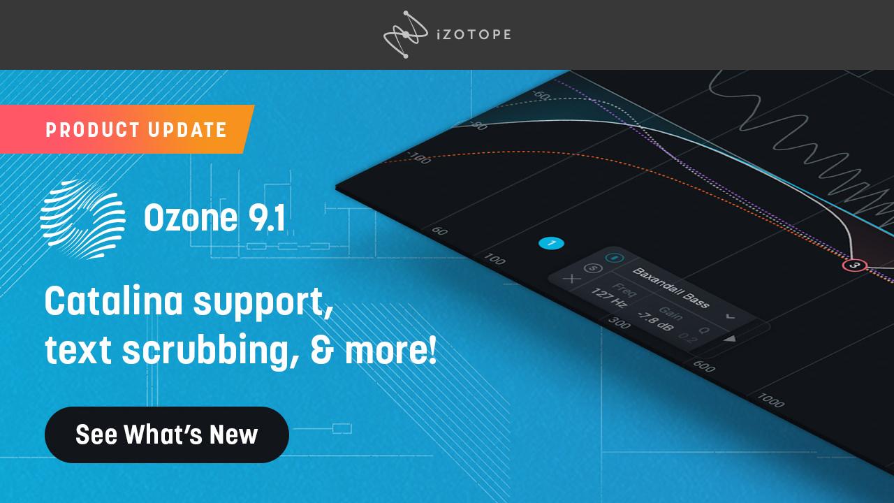 izotope ozone 9.1 update