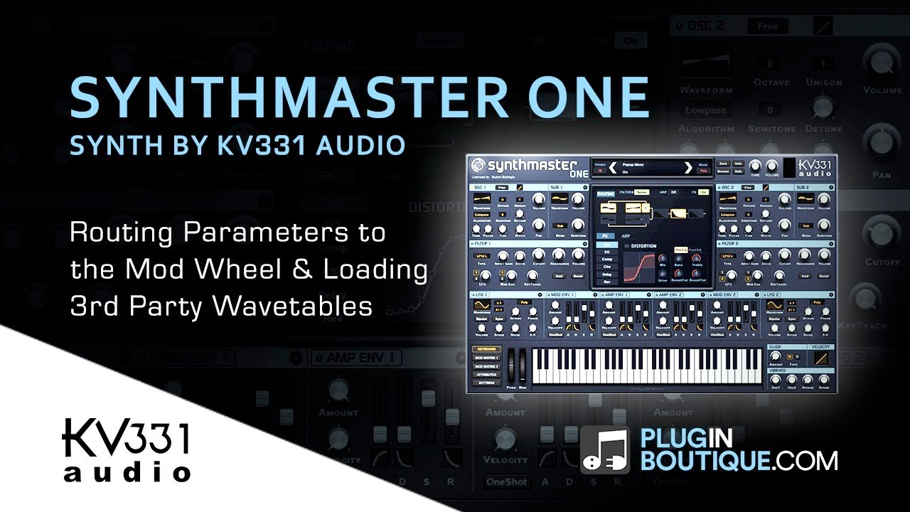 kv331 synthmaster one tutorial