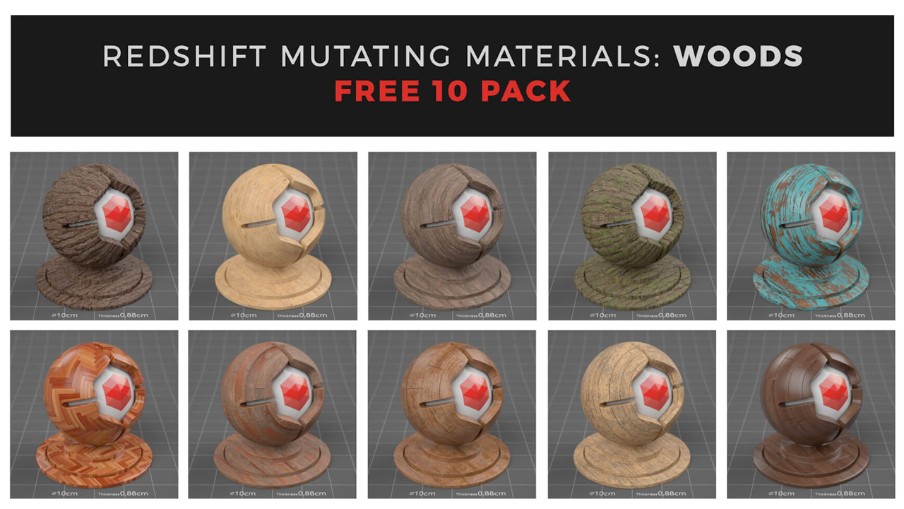 mutating materials woods sampler