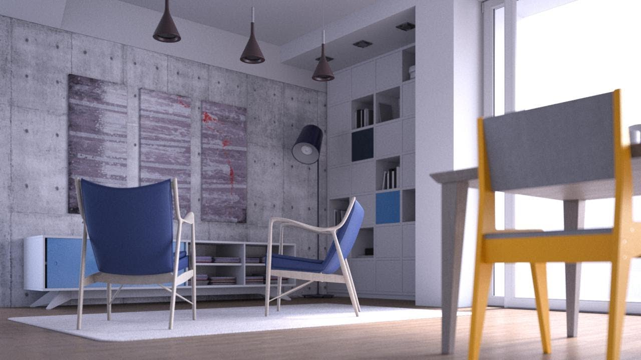 Light and Render an Interior Scene with V-Ray for Cinema 4D
