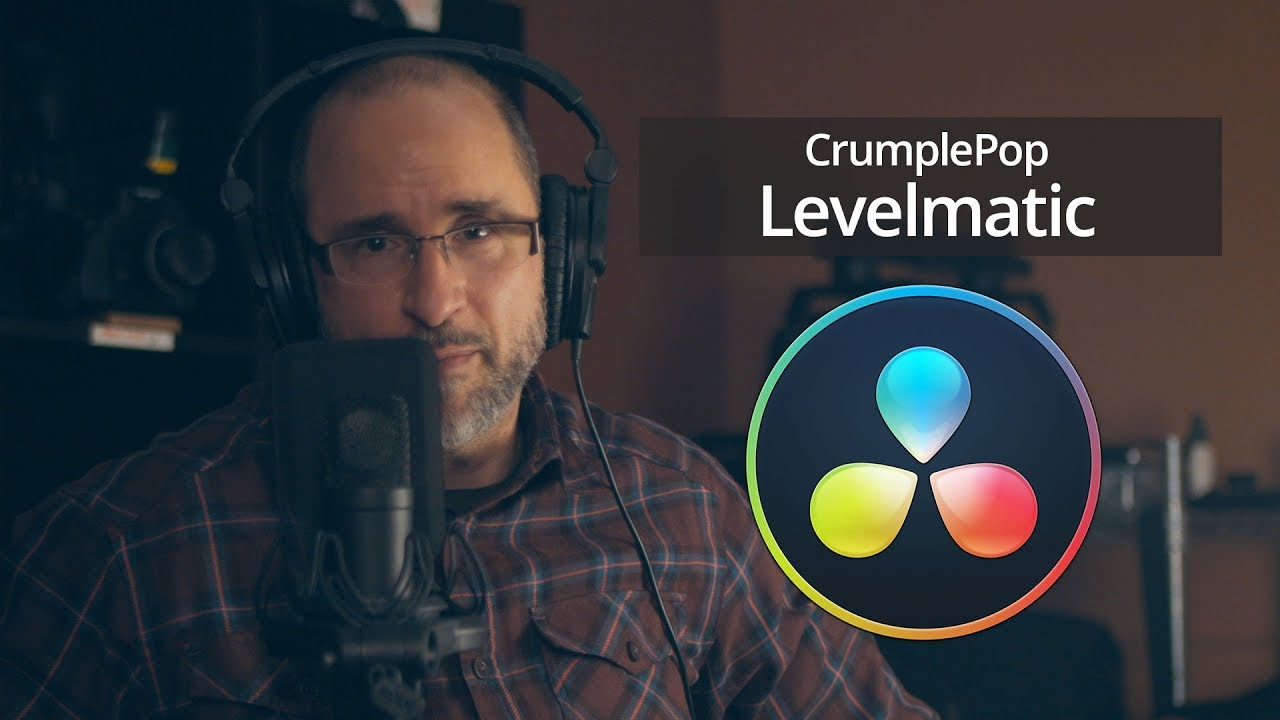 Crumplepop levelmatic for Davinci Resolve