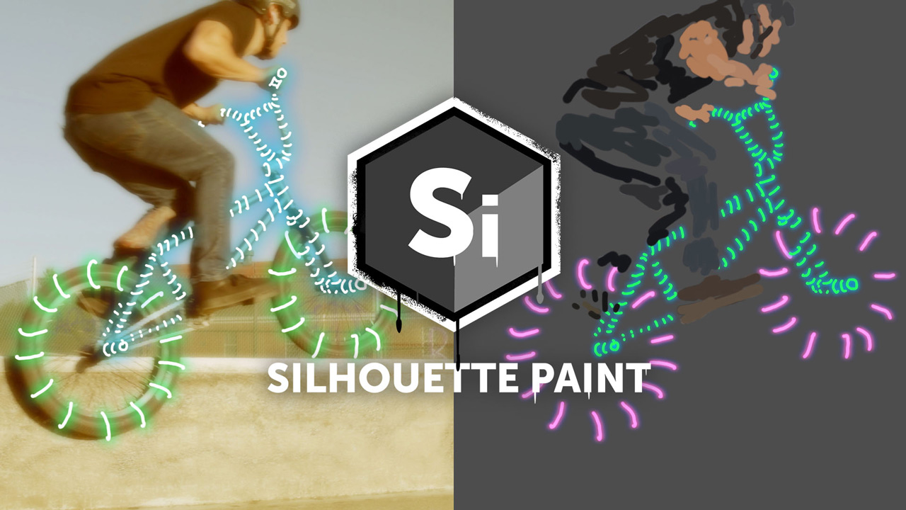 silhouette paint bike