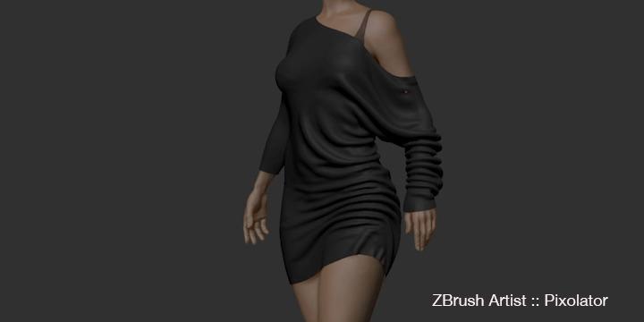Pixologic ZBrush 2021 cloth brush