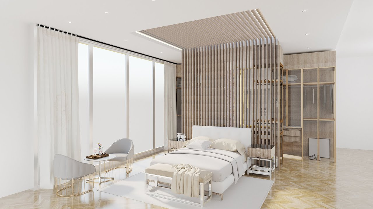 Luxury Hotel Room Interior Build Sketchup & V-Ray + Glass Tutorial