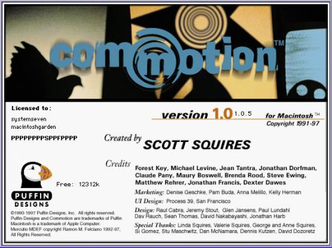 Commotion 1.0 Splash screen