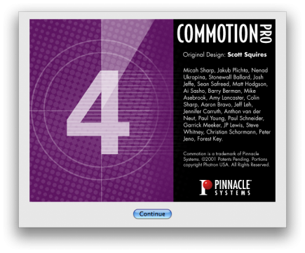 Commotion 4.1 Splash screen