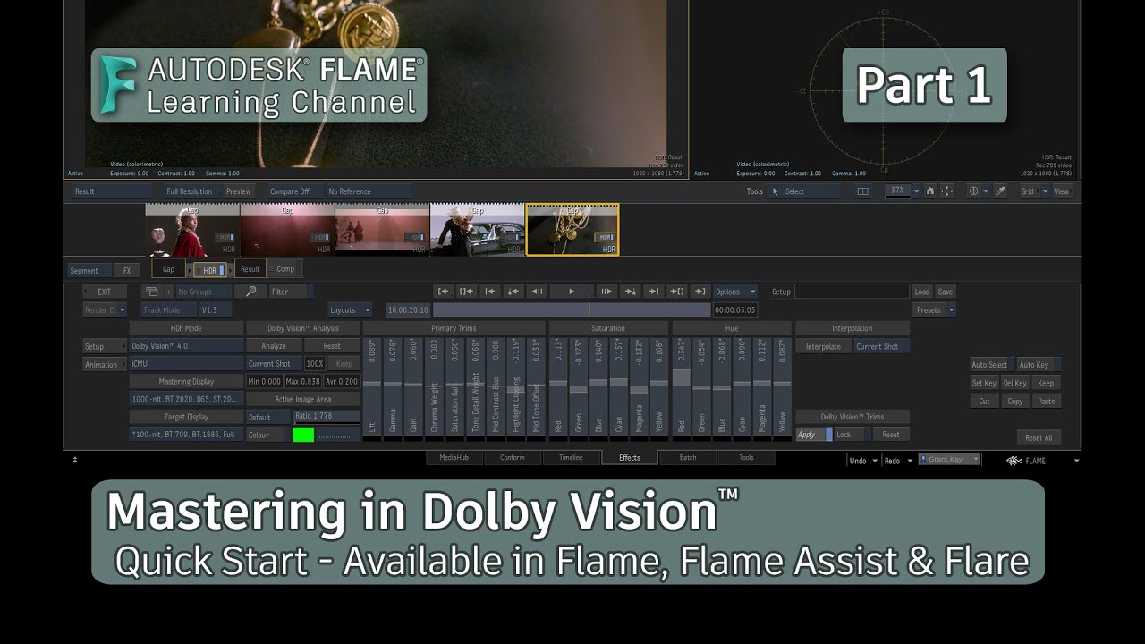 Mastering in Dolby Vision™ - Part 1 - Flame 2021