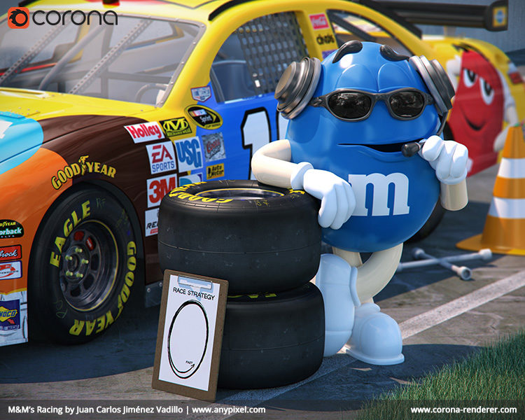 corona renderer m&ms racing