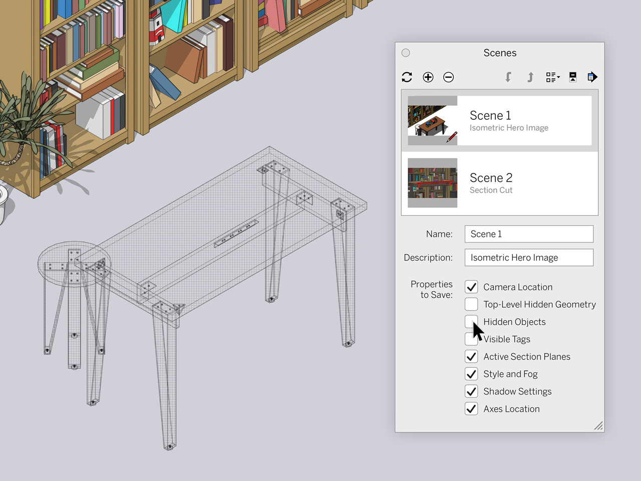 sketchup 2020.1 update scenes