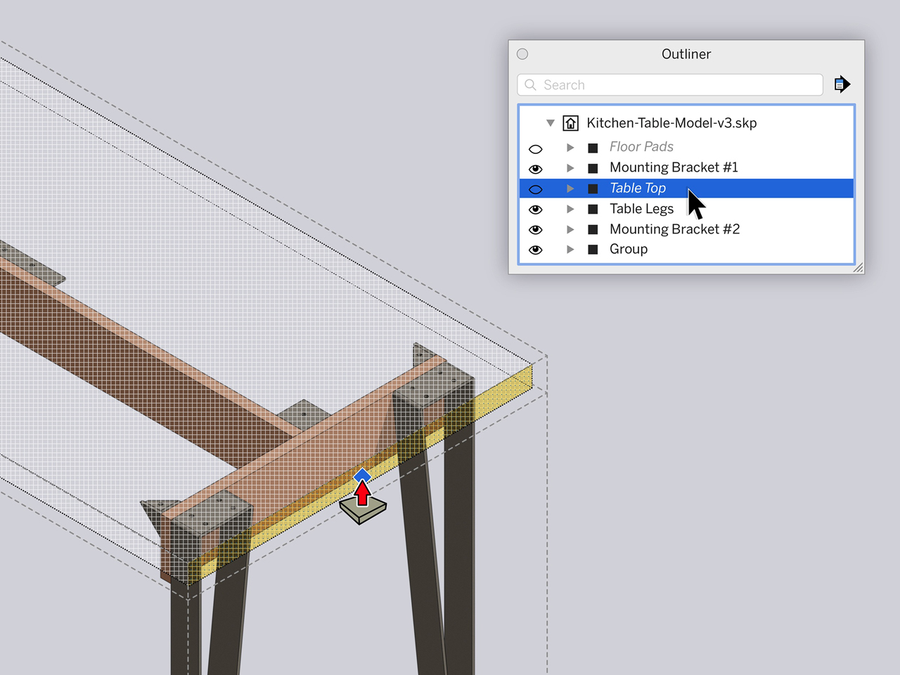 sketchup 2020.1 update hidden objects