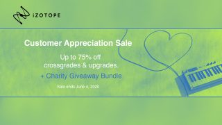 izotope customer appreciation sale