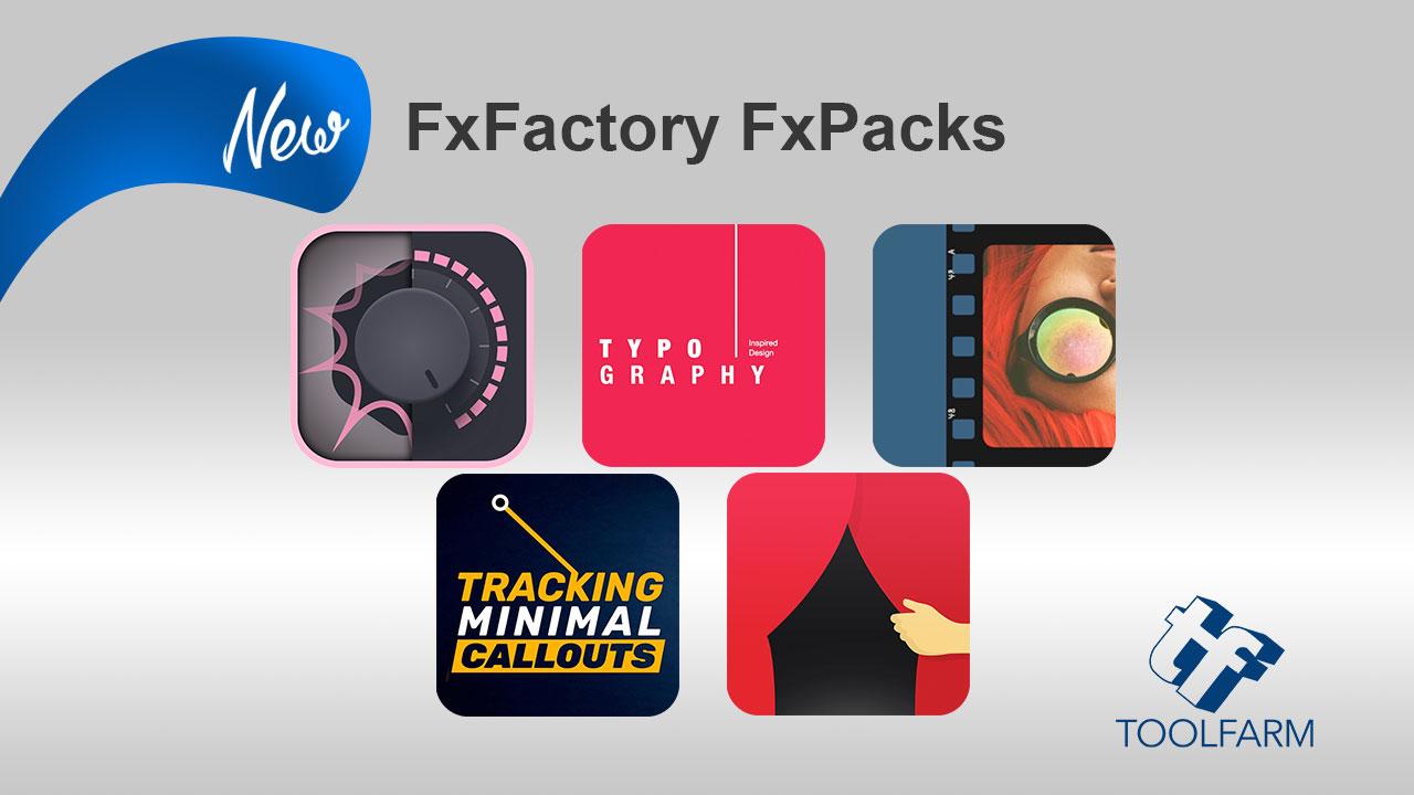 FxFactory 5 new packs CrumplePop PremiumVFX Stupid Raisins omotion Cineflare