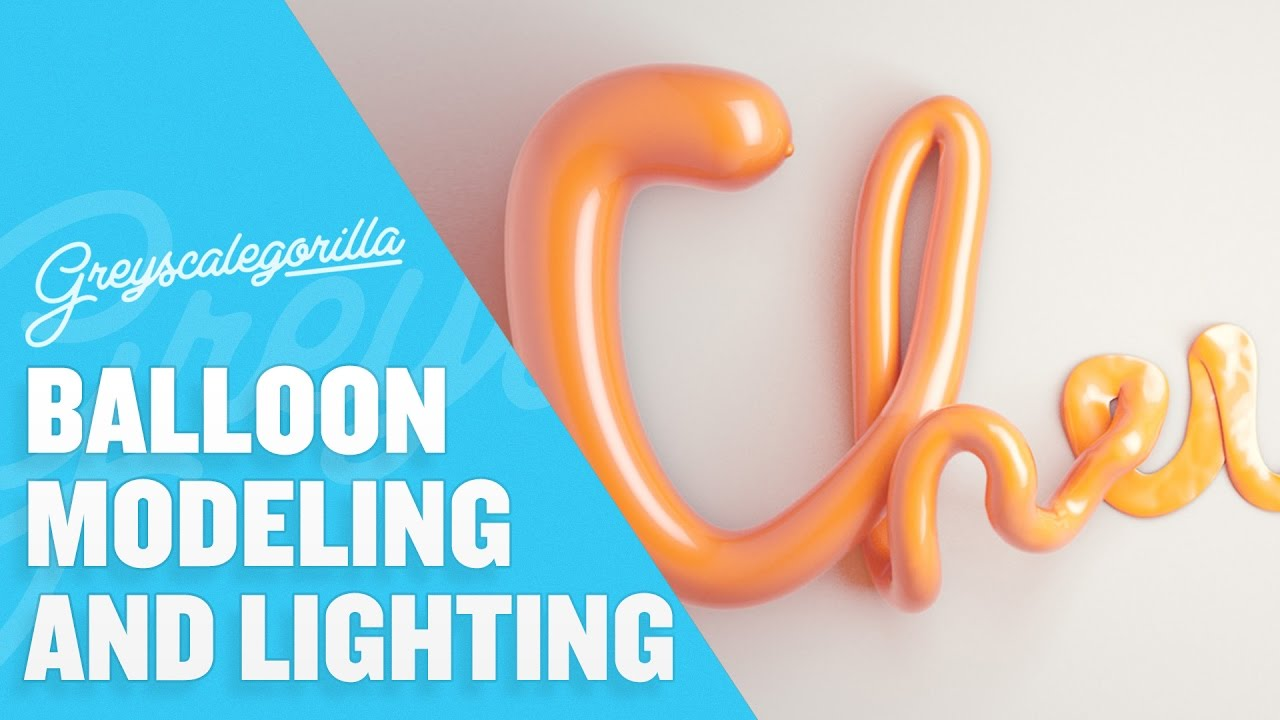 Balloon Type with Cinema 4D and Greyscalegorilla Light Kit Pro